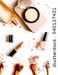 decorative cosmetics nude on... | Shutterstock . vector #540137431