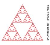 sierpinski triangle using... | Shutterstock .eps vector #540137581