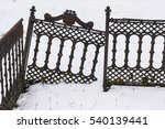 Old Cemetery Iron Gate In...