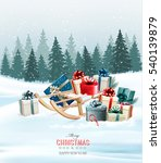 holiday christmas greeting card ... | Shutterstock .eps vector #540139879