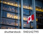 canadian flag in front of a... | Shutterstock . vector #540142795