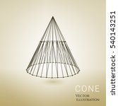 3d vector cone consists of... | Shutterstock .eps vector #540143251
