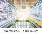 supermarket aisle with empty...   Shutterstock . vector #540146389