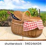 picnic basket. | Shutterstock . vector #540146434