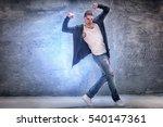 young male modern dancer... | Shutterstock . vector #540147361