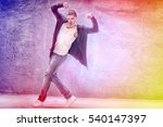young male modern dancer... | Shutterstock . vector #540147397