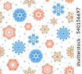 snowflakes pattern. vector... | Shutterstock .eps vector #540156697
