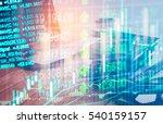 stock market or forex trading... | Shutterstock . vector #540159157