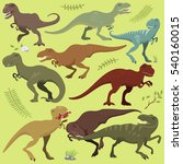 tyrannosaurus t rex dinosaur... | Shutterstock .eps vector #540160015