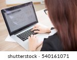 cropped view of business woman... | Shutterstock . vector #540161071