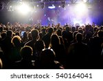 barcelona   mar 17  crowd in a... | Shutterstock . vector #540164041