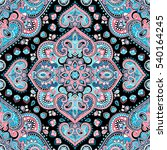 indian floral paisley medallion ... | Shutterstock .eps vector #540164245