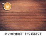 Coffee Cup On Wood Texture And...