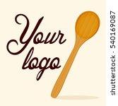 wooden spoon vector | Shutterstock .eps vector #540169087