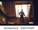 young business man construction ... | Shutterstock . vector #540170185