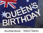 queen's birthday signage on a...   Shutterstock . vector #540173641