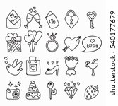 doodle icon set isolated ... | Shutterstock .eps vector #540177679