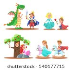 prince and princess character... | Shutterstock .eps vector #540177715