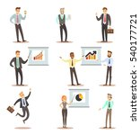 business man and woman... | Shutterstock .eps vector #540177721