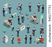 set of isometric business... | Shutterstock .eps vector #540177751