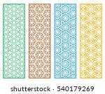 decorative doodle lace borders... | Shutterstock .eps vector #540179269
