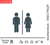 man and lady toilet sign | Shutterstock .eps vector #540179629