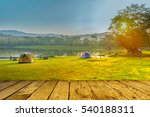 camping and tent near lake in... | Shutterstock . vector #540188311