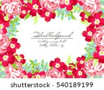 vintage delicate invitation... | Shutterstock . vector #540189199