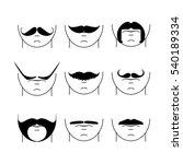big set of vector hipster... | Shutterstock .eps vector #540189334