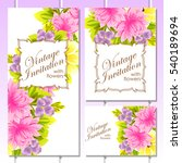 vintage delicate invitation... | Shutterstock . vector #540189694