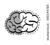 human brain scribble icon... | Shutterstock .eps vector #540194785