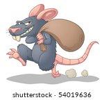 Cartoon Rat Stealing And...