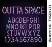 embossed stereo font. vector... | Shutterstock .eps vector #540206161