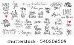 romantic lettering set.... | Shutterstock .eps vector #540206509