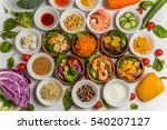 various fresh salad | Shutterstock . vector #540207127
