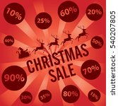 christmas sale with santa claus ... | Shutterstock .eps vector #540207805