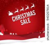 christmas sale with santa claus ... | Shutterstock .eps vector #540207814