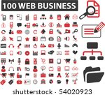 100 web business signs. vector | Shutterstock .eps vector #54020923