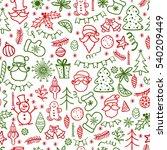 merry christmas. hand drawn... | Shutterstock . vector #540209449