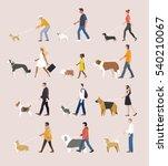 Stock vector low poly geometric animal dog vector illustration flat design 540210067