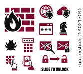 firewall icon set | Shutterstock .eps vector #540217045