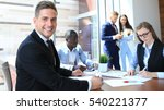 businessman with colleagues in... | Shutterstock . vector #540221377