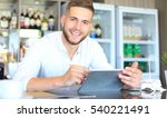 small business owner working at ... | Shutterstock . vector #540221491