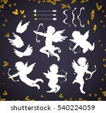 cute cupids and amour angels... | Shutterstock .eps vector #540224059