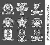 ice hockey labels and design... | Shutterstock .eps vector #540224467