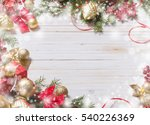 Christmas Decoration On White...