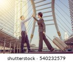 success and happiness team... | Shutterstock . vector #540232579