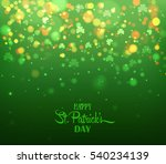 green background with trifolium ... | Shutterstock .eps vector #540234139