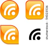 rss glossy vibrant web buttons. | Shutterstock .eps vector #54023536