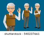 elegant people businessman | Shutterstock .eps vector #540237661